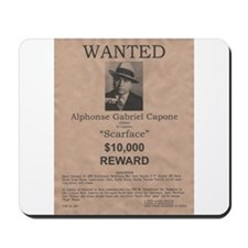 Al Capone Wanted Poster Mousepad