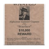 Al Capone Wanted Poster Tile Coaster