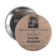 """Al Capone Wanted Poster 2.25"""" Button"""