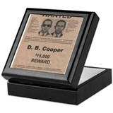 DB Cooper Wanted Poster Keepsake Box