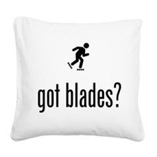 Roller Blading Square Canvas Pillow