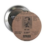 "Jesse James Wanted Poster 2.25"" Button"