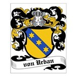 Von Urban Coat of Arms Small Poster