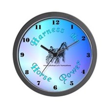 Blue Harness Racing Wall Clock