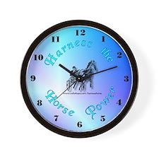 Blue Harness Racing Wall Clock