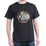 "Weird Dollar ""Illuminati"" Black T-Shirt"