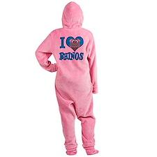 love rhinos.png Footed Pajamas