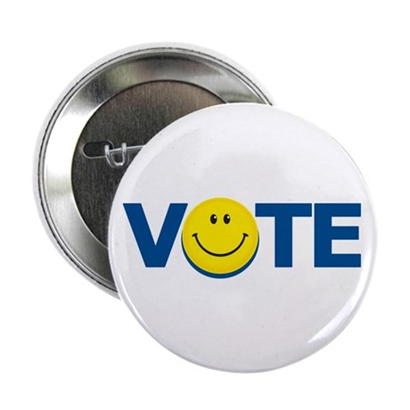 "Vote Smiley Face: 2.25"" Button (100 pack)"