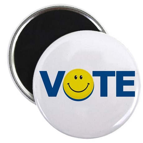 "Vote Smiley Face: 2.25"" Magnet (10 pack)"