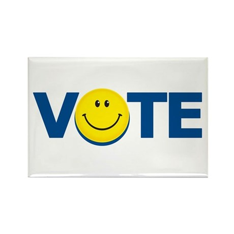 Vote Smiley Face: Rectangle Magnet