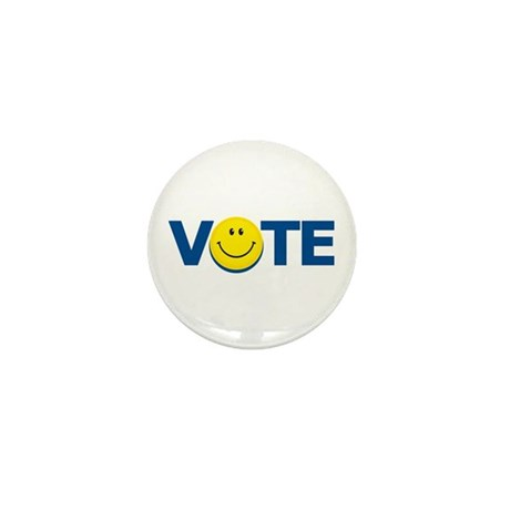 Vote Smiley Face: Mini Button (10 pack)