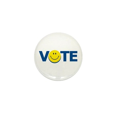 Vote Smiley Face: Mini Button