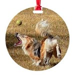 Demon Puppy and the Ball Round Ornament
