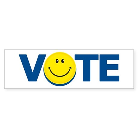 Vote Smiley Face: Bumper Sticker