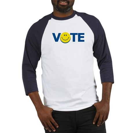 Vote Smiley Face: Baseball Jersey