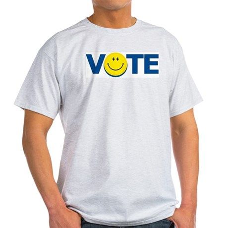 Vote Smiley Face: Ash Grey T-Shirt