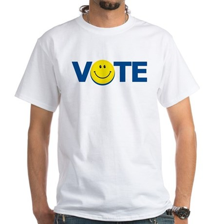 Vote Smiley Face: White T-Shirt