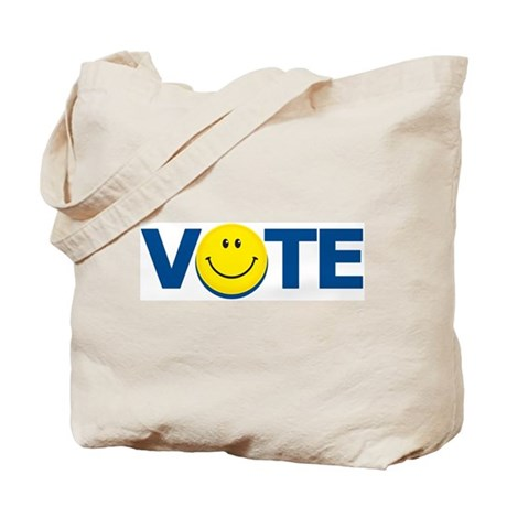 Vote Smiley Face: Tote Bag