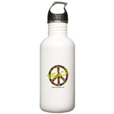 FLOWERS PEACE SIGN Water Bottle