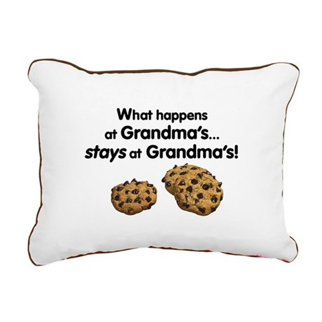 Stays at Grandmas Rectangular Canvas Pillow