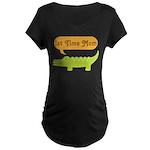 1st Time Mom Alligator Maternity Dark T-Shirt