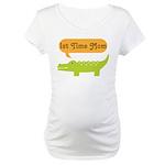 1st Time Mom Alligator Maternity T-Shirt