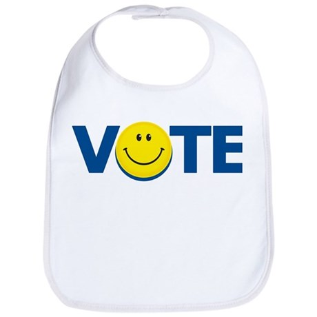 Vote Smiley Face: Bib