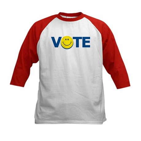 Vote Smiley Face: Kids Baseball Jersey