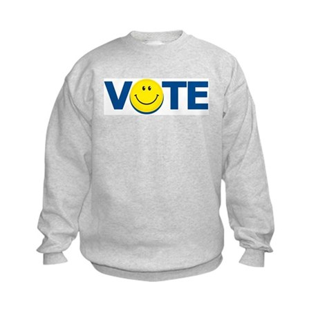Vote Smiley Face: Kids Sweatshirt