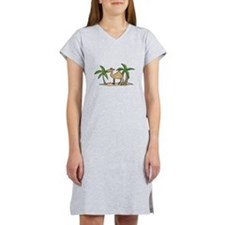 cute camel and palm trees.png Women's Nightshirt