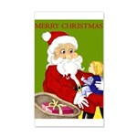 Santa and Child Merry Christmas Happy Holidays by