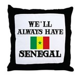 Flag of Senegal Throw Pillow
