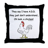 ADD Chicken Throw Pillow
