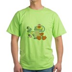 baby ducks and watering can.png Green T-Shirt