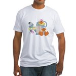 baby ducks and watering can.png Fitted T-Shirt