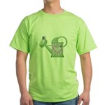 butteryfly and watering can design.png Green T-Shi