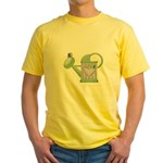 butteryfly and watering can design.png Yellow T-Sh