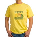 3-happy easter design.png Yellow T-Shirt