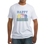 3-happy easter design.png Fitted T-Shirt