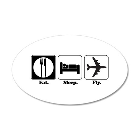 fly.png 20x12 Oval Wall Decal