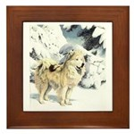 Eskimo Dog Art Framed Tile
