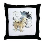 Eskimo Dog Art Throw Pillow