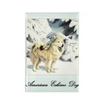 Eskimo Dog Art Rectangle Magnet