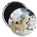 Eskimo Dog Art Magnet