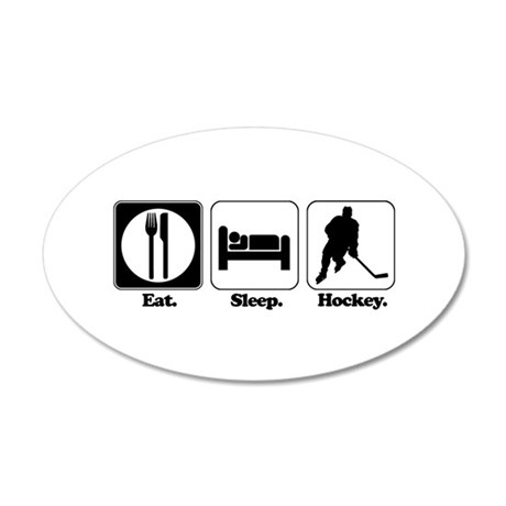 hockey.png 20x12 Oval Wall Decal