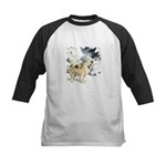 Eskimo Dog Art Kids Baseball Jersey