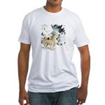 Eskimo Dog Art Fitted T-Shirt