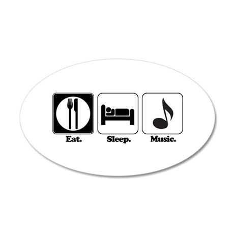music.png 35x21 Oval Wall Decal