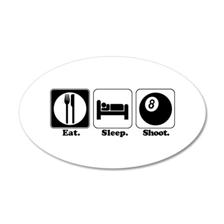 shoot pool.png 20x12 Oval Wall Decal
