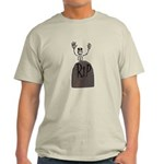 tombstone and skeleton design.png Light T-Shirt